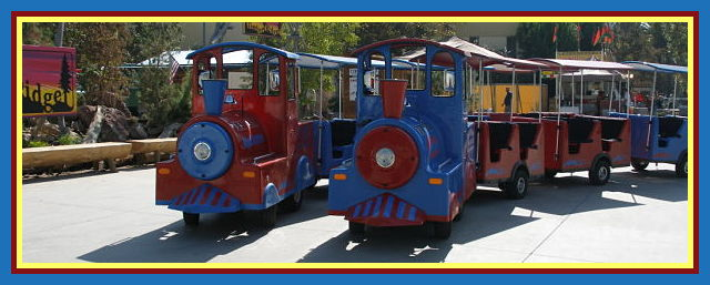 Trains on the Move Trackless Train